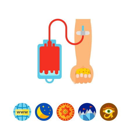 Blood donation icon Illustration