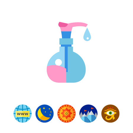 moisturizer: Bottle with liquid soap vector icon Illustration
