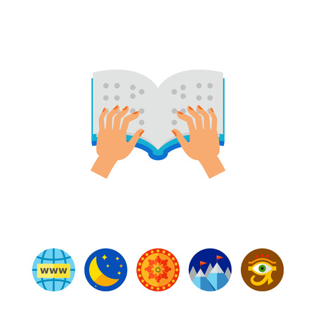 Braille book icon