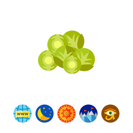 Brussels sprouts vegetable icon