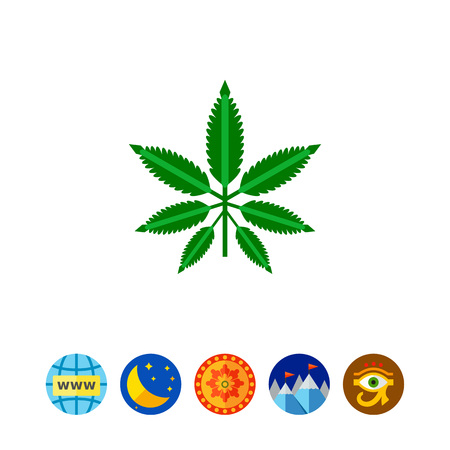 Cannabis leaf vector icon