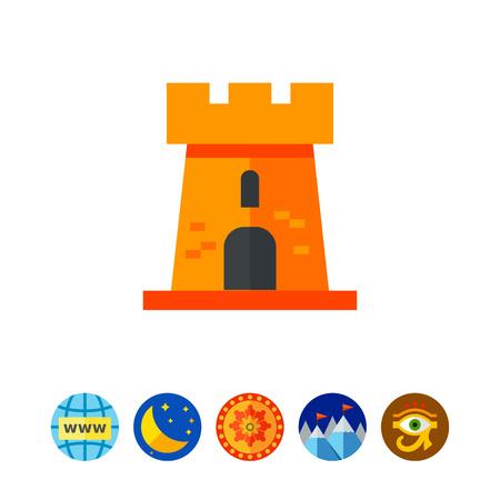 Castle Tower Vector Icon