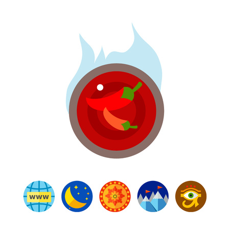 Chilli sauce icon Illustration