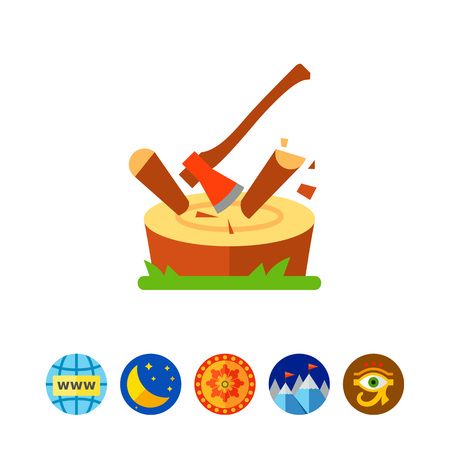 logging: Chopping log icon