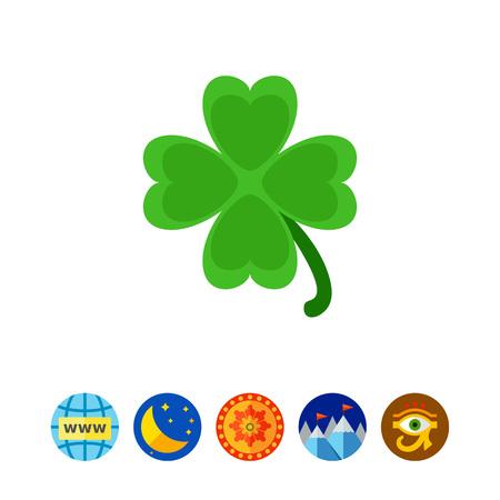 fourleaf: Clover vector icon Illustration