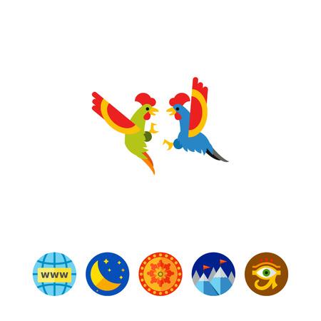 Cocks fighting icon