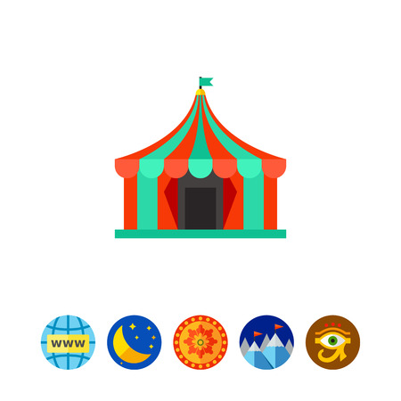 cupola: Colorful circus tent icon