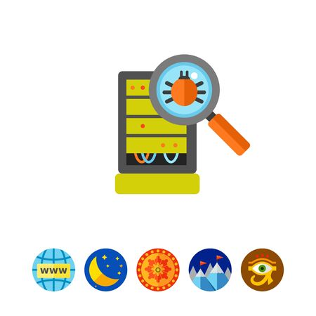 Database server bug inspection icon