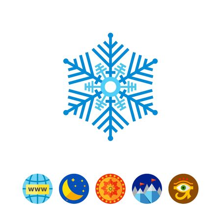 freeze: Decorative Blue Snowflake Icon
