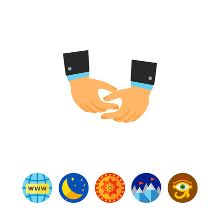 Depicting hands icon