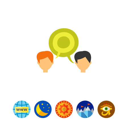 Dialogue Concept Icon Illustration