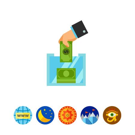 Donation box icon Illustration