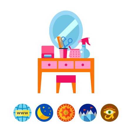 Dressing table icon