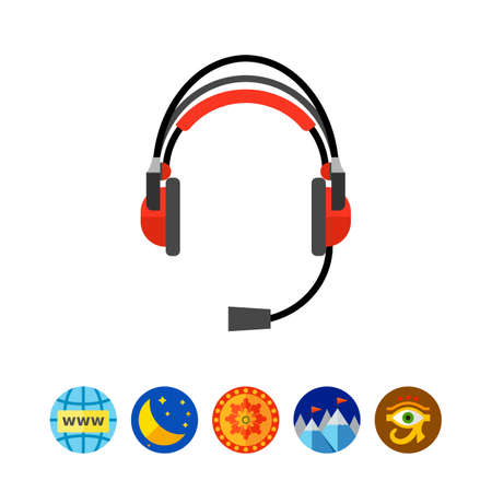Earphones headset icon