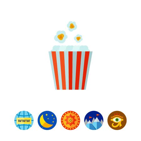 Popcorn bucket icon