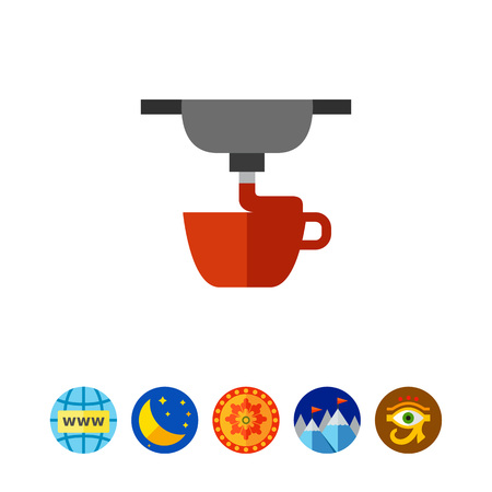 additive manufacturing: Process of 3d printing cup icon Illustration