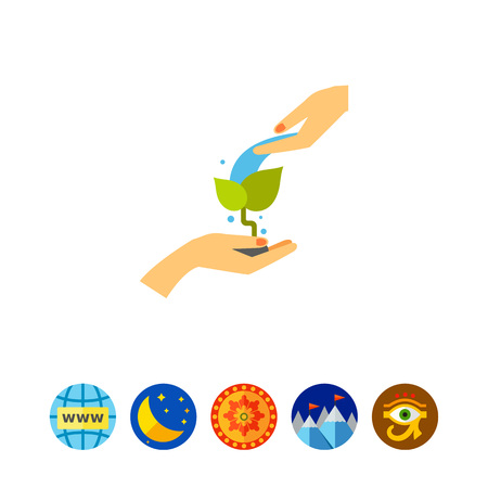 irrigation: Planting care concept icon