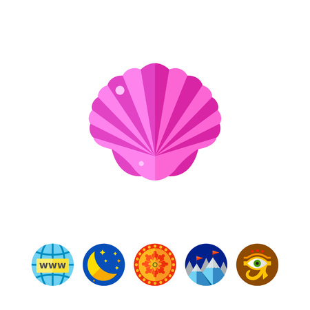 Purple seashell icon