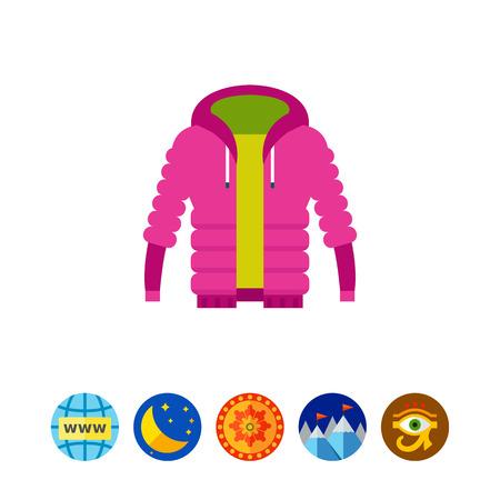 warm cloth: Purple unisex warm down jacket icon