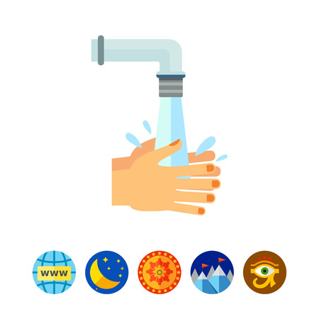 cleanse: Rinsing Hands Icon