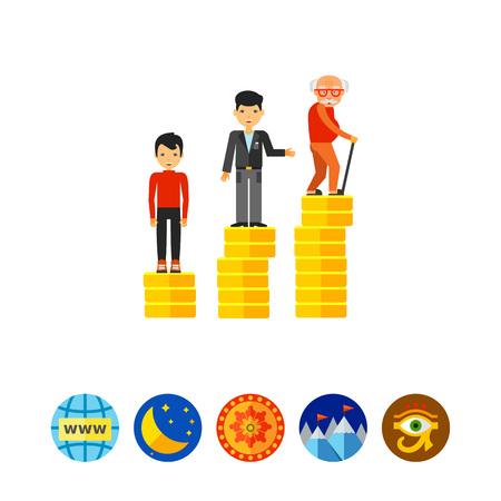 Retirement Money Plan Concept Icon Illustration