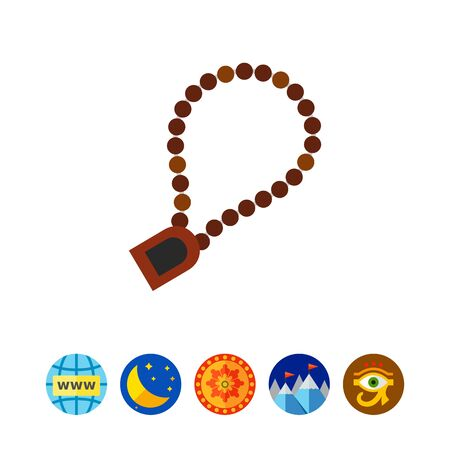 Rosario para el icono de oración Foto de archivo - 81302531