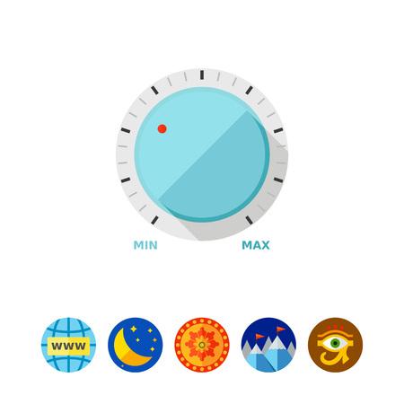 volume knob: Round volume knob icon