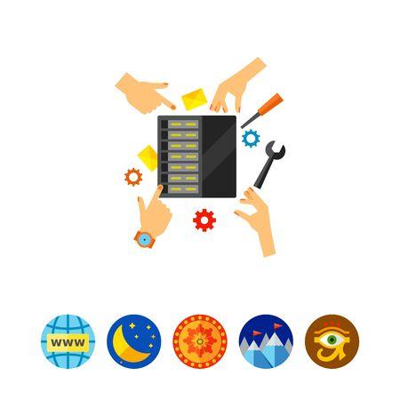 Server maintenance icon Ilustrace