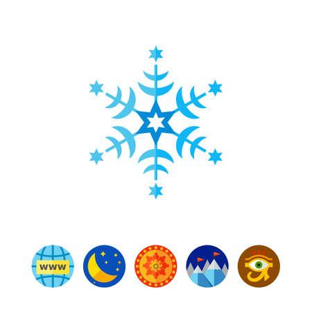 星雪の結晶アイコン