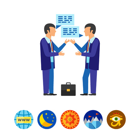 Struggling business opponents icon Stok Fotoğraf - 81304785