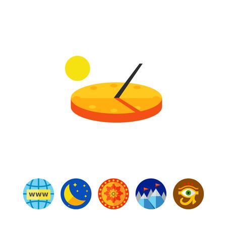 reloj de sol: Reloj de sol del vector del icono