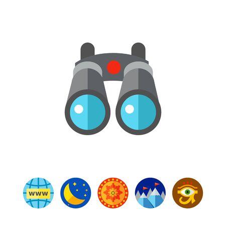 Travel Binoculars Icon Illustration