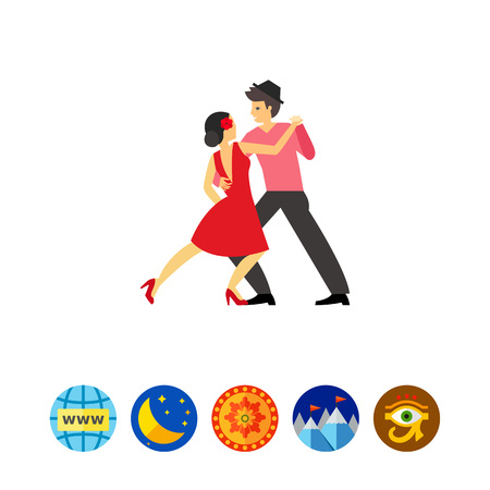 Tango dancers vector icon