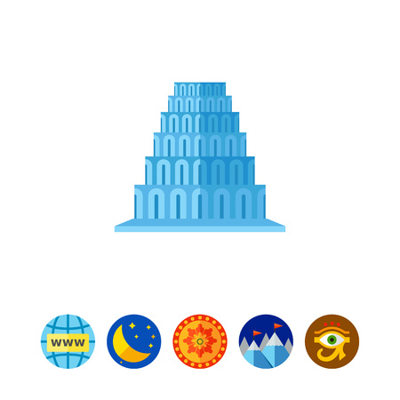 Tower of Babel vector icon Illustration