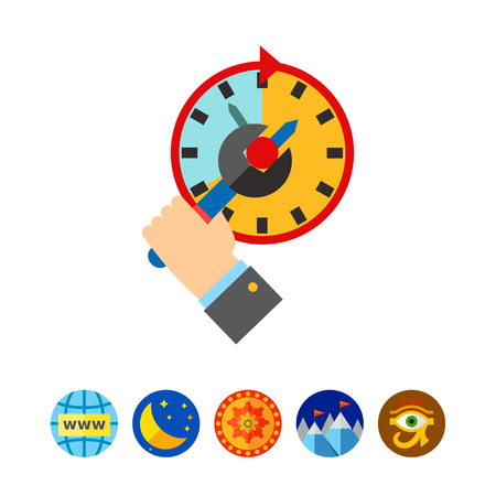 Time Management Concept and Spanner Icon Illustration