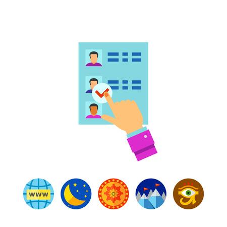 Vote paper vector icon