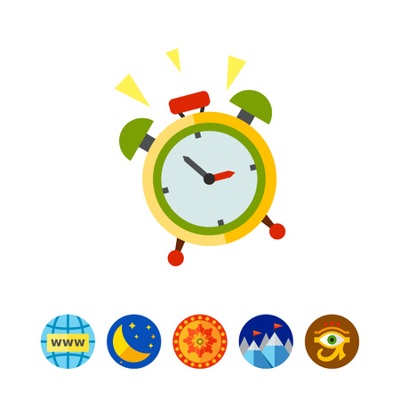 Wake-up Time Vector Icon