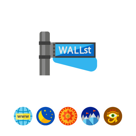 Wall street sign icon