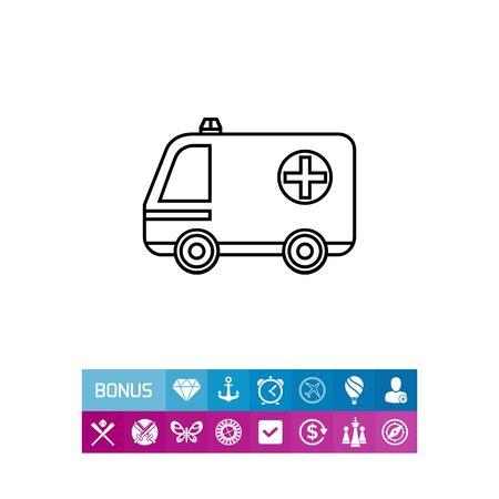 urgency: Ambulance Car Icon