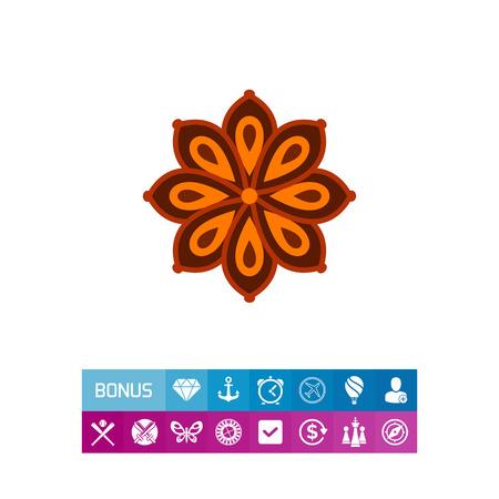 prepare: Anise star icon Illustration