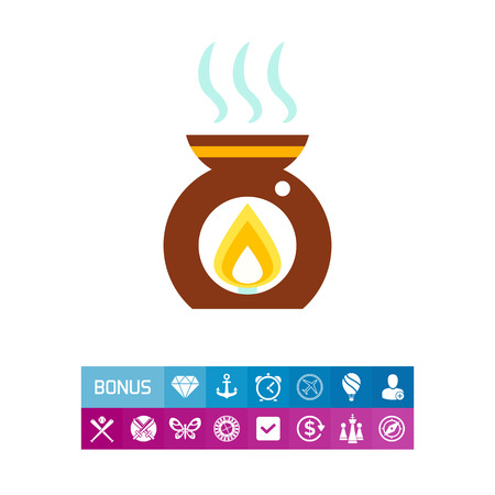 oil lamp: Aroma lamp icon Illustration