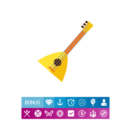 Multicolored vector icon of balalaika, special Russian musical instrument