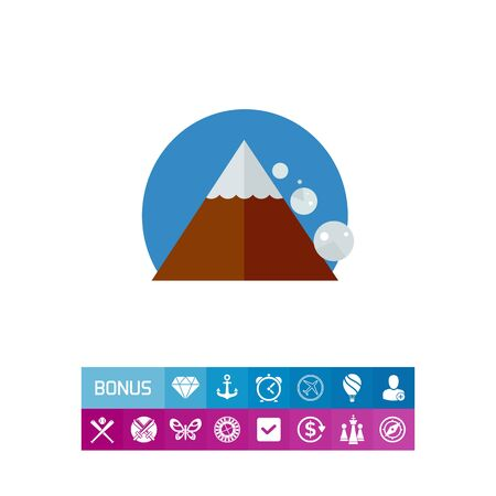 Avalanche Down Mountain Side. Peak, danger, snow. Mountain concept. Can be used for topics like geology, geography, business. Illustration