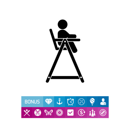 Baby Chair Simple Icon Illustration