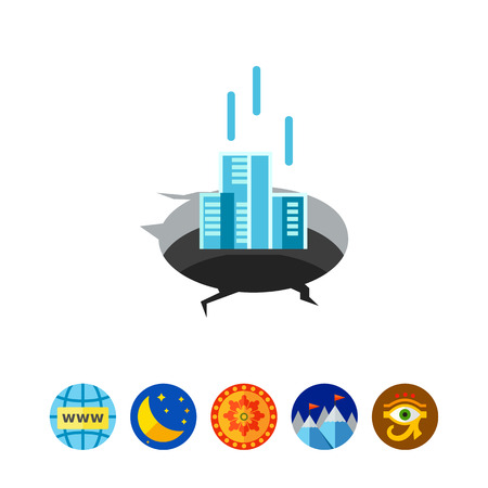 bankrupt: Company in Financial Difficulty Concept Icon