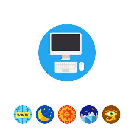 Computer Mouse and Keyboard Icon Illustration