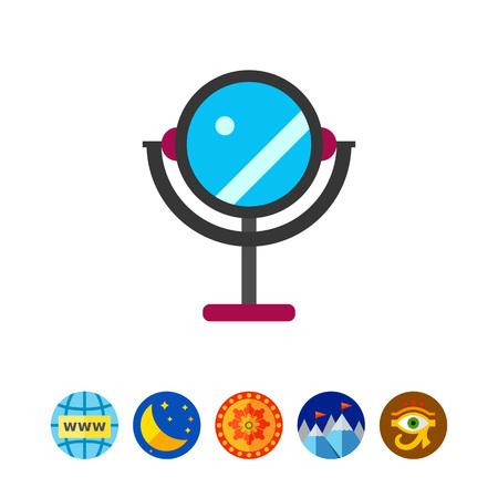 Round mirror icon