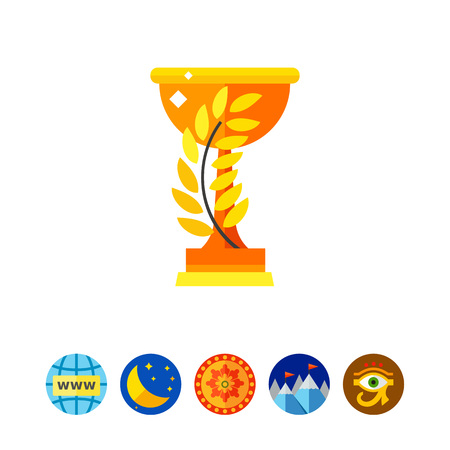 sports application: Winner Cup Vector Icon Illustration