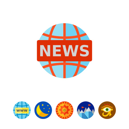 World news icon Illustration