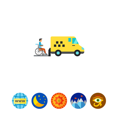 recuperation: Yellow minibus icon